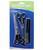 NuValu home набор для стрижки волос, 2-ножницы, 1-расческа, 3шт (06378)