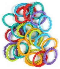 Bright starts разноцветные кольца - игрушки для детей,  0-36 месяцев, 24шт (86647)