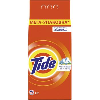 Tide стиральный порошок, Альпийская свежесть, для белого, 9кг (38017)