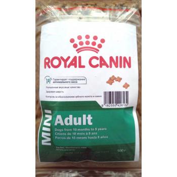 Royal Canin Mini Adult сухой полнорационный корм для взрослых собак мелких пород, фасованный, 500гр (26132)