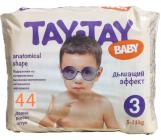 Tay-Tay Baby подгузники #3, 5-11кг, 44шт (90241)