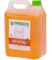 Synergetic средство для мытья посуды и детских игрушек, Сочный апельсин, 5л (58335)