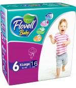 Flovell Baby #6 подгузники, 16+ кг, 16шт (22177)