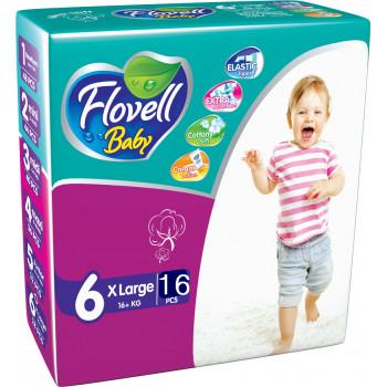 Flovell Baby подгузники #6, 16+ кг, 16шт (22177)