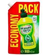Morning Fresh Lemon для мытья посуды, лимон, запаска, 900мл (23423)