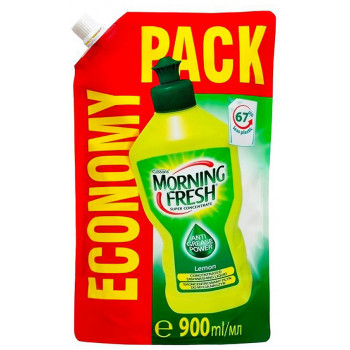 Morning Fresh Lemon средство для мытья посуды, лимон, запаска, 900мл (23423)
