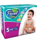 Flovell Baby #5 подгузники, 12-25кг, 18шт (22160)