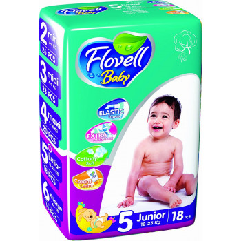 Flovell Baby подгузники #5, 12-25кг, 18шт (22160)