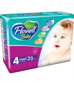 Flovell Baby #4 подгузники, 9-18кг, 20шт (22153)