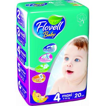 Flovell Baby подгузники #4, 9-18кг, 20шт (22153)