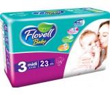 Flovell Baby #3 подгузники, 4-9кг, 23шт (22146)