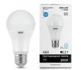 gauss elementary светодиодная лампа А 60, 20 ватт, холодный цвет 6500К, 1шт (05852)