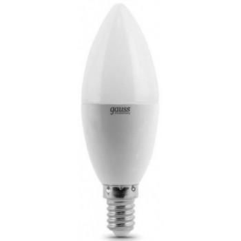 gauss elementary светодиодная лампа-свеча, 6 ватт, холодный цвет 6500К, 1шт (72796)