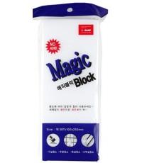 Magic Block очищающая меламиновая губка, большая, 1шт (61585)
