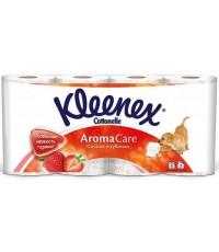 Kleenex Aroma Care туалетная бумага, Сочная клубника, 8 рулонов, 3 слоя, 155 отрывов в рулоне (41624)