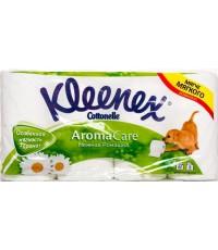 Kleenex Aroma Care туалетная бумага, Нежная ромашка, 8 рулонов, 3 слоя, 155 отрывов в рулоне (41617)