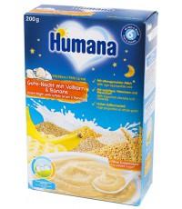 Humana молочная каша на ночь, цельнозерновая с бананом, c 6 месяцев, 200гр (75597)