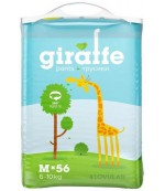 Lovular giraffe #3 M трусики-подгузники, 6-10кг, 56шт (90489)