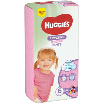 Huggies трусики-подгузники для девочек #6, 16-22кг, 44шт (47060)