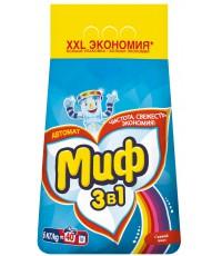 Миф Color стиральный порошок автомат, для цветного белья, Свежий цвет, 6кг (85564)
