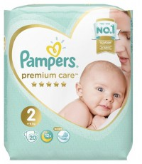 Pampers Premium Care #2 подгузники, 4-8кг, 20шт (06761)