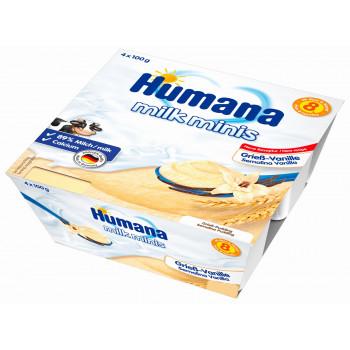 Humana milk minis йогурт с ванилью, с 8 месяцев, 4шт*100гр (84483)