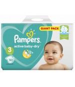 Pampers actiive baby dry #3 подгузники, 6-10 кг, 90шт (65024)