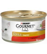Gourmet Gold консервированный корм для взрослых кошек, паштет с говядиной, 85гр (90314)