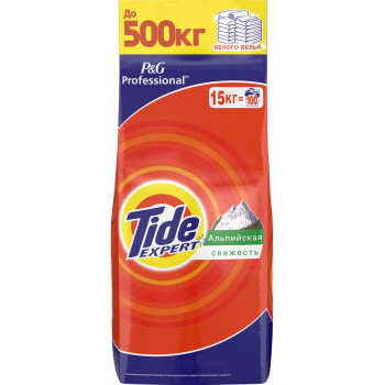 Tide Expert стиральный порошок автомат, Альпийская свежесть, для белого белья, 15кг (97748)