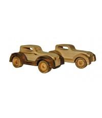 Детская машинка деревянная, 16см x 8 см,  1шт (02290)