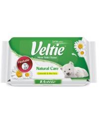Veltie Natural care влажная туалетная бумага, смываемая, ромашка и алое вера, 42шт (98149)