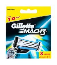 Gillette Mach3 сменные кассеты для бритвы, 8шт (79172)