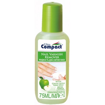 Compact жидкость для снятия лака, яблоко,  75мл (30976)