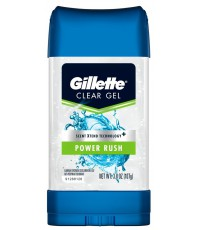 Gillette Clear gel гелевый антиперспирант, Power Rush, 107гр (97872)