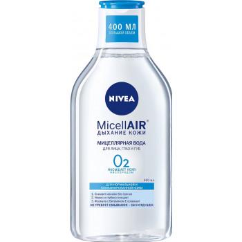 Nivea MicellAIR мицеллярная вода для лица, глаз и губ, Дыхание Кожи, для нормальной и комбинированной кожи, 400мл (54079)