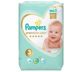 Pampers Premium Care подгузники #3, 6-10кг, 18шт (46453)