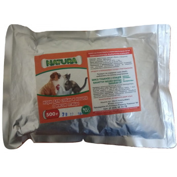Natura корм для собак и кошек, с мясом птицы, 500гр (о) (24164)