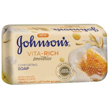 Johnson's Vita-rich расслабляющее туалетное мыло, с йогуртом, медом и овсом, 125гр (79982)