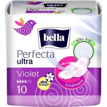 Bella Perfecta ultra violet гигиенические прокладки, 4 капли, 10шт (02955)