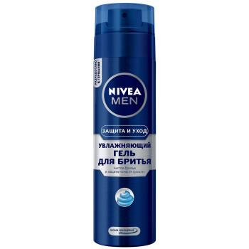 Nivea Men гель для бритья, увлажняющий, Защита и уход, 200мл (69109)