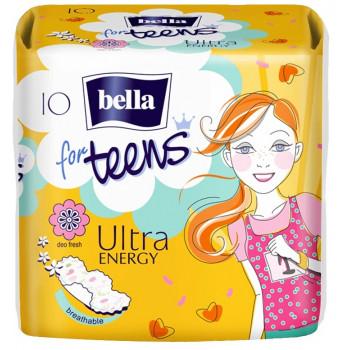 Bella for teens ultra energy гигиенические прокладки, 4 капли, 10шт (02405)