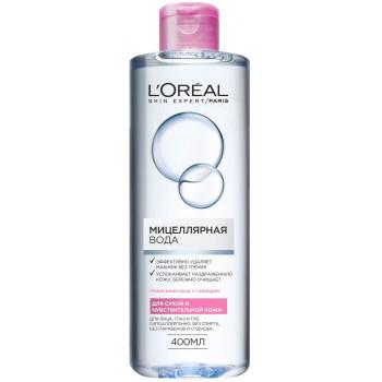 L'Oreal мицеллярная вода для лица, глаз и губ, для сухой и чувствительной кожи, 400мл (29977)
