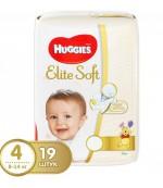 Huggies Elite soft #4 подгузники, 8-14 кг, 19шт (45288)