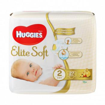Huggies Elite Soft #2 подгузники, 3-6 кг, 27шт (45486)