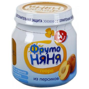 Фруто Няня пюре фруктовое, персик, с 4 месяцев, 100гр  (04372)