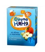 Фруто Няня  сок (яблоко,персик) 5 месяцев 0,2 л (00220)