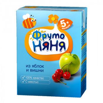 Фруто Няня сок (яблоко,вишня) 5 месяцев 0,2 л (00282)