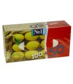 Happy универсальные гигиенические платочки, с ароматом Лимона, 100 +50 шт (20352)