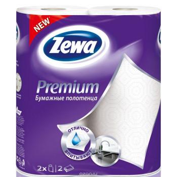 Zewa бумажные полотенца, 2 рулона, 2 слоя, 57 отрывов в рулоне (34302)