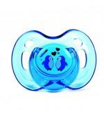Bebeneo круглая круглая пустышка, синяя 6+12 месяцев (0726) (07263)